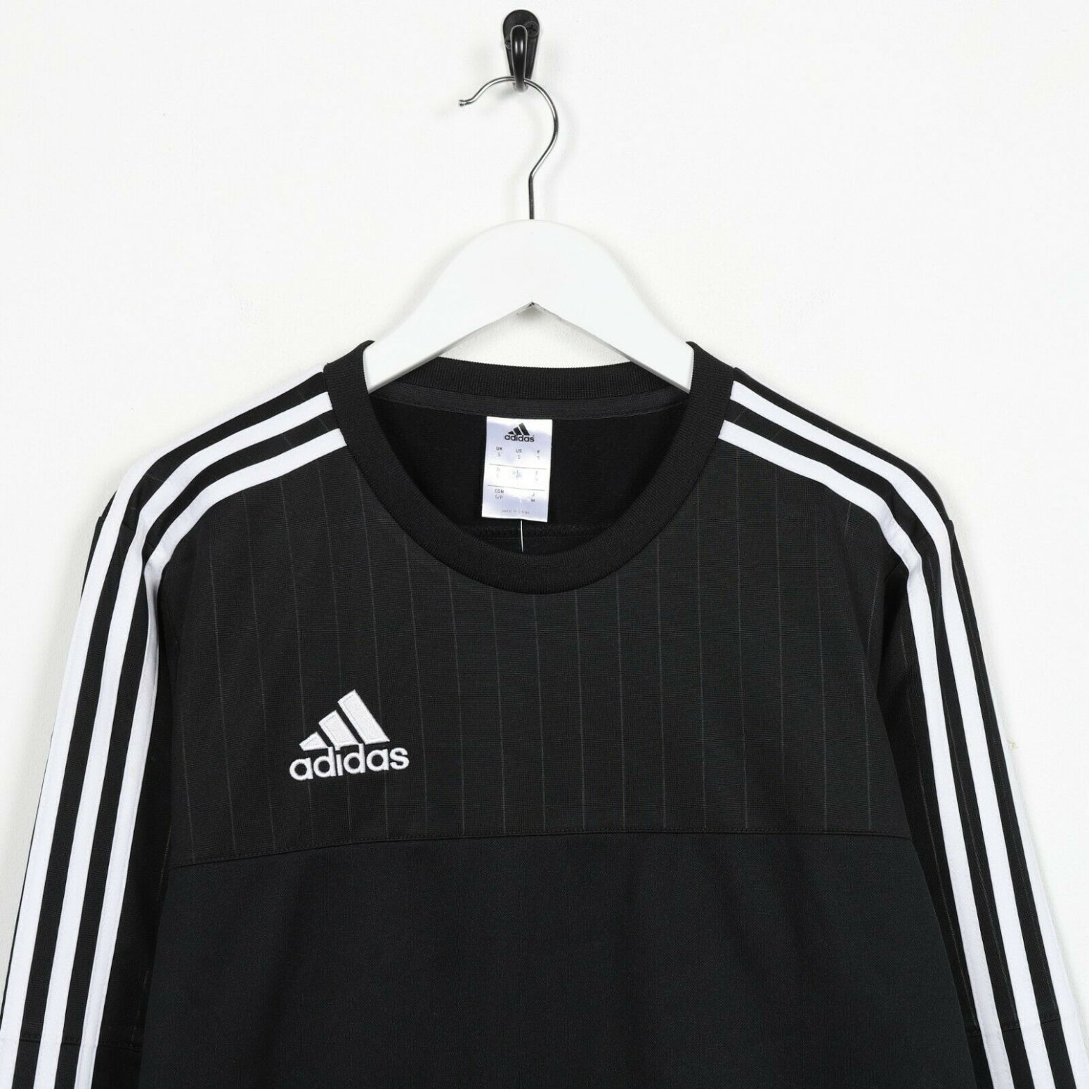 Vintage ADIDAS Small Logo Polyester Sweatshirt Jumper Black | Small S