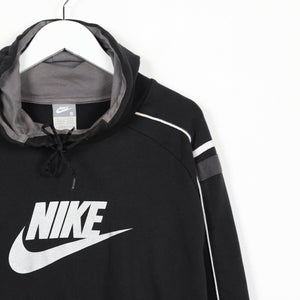 Vintage NIKE Big Logo Hoodie Sweatshirt Black Small S