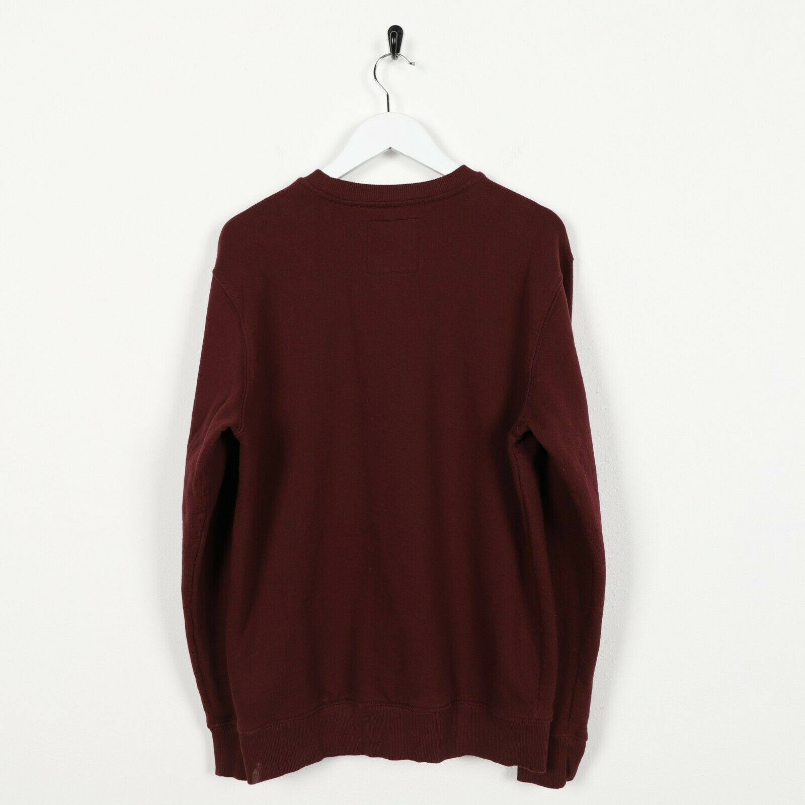 Vintage VANS Spell Out Logo Sweatshirt Jumper Burgundy Red | Small S