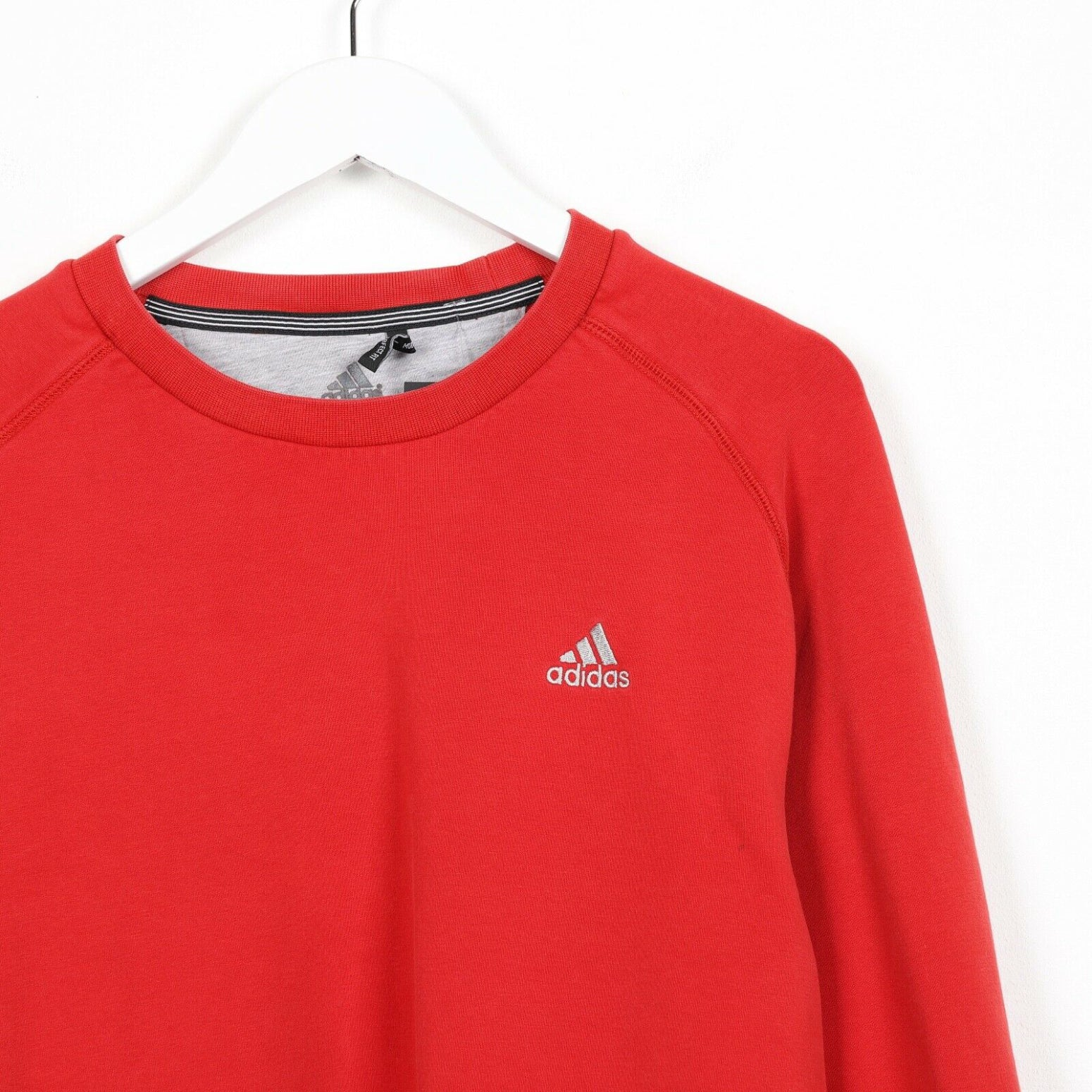 Vintage ADIDAS Small Logo Sweatshirt Jumper Red | Small S