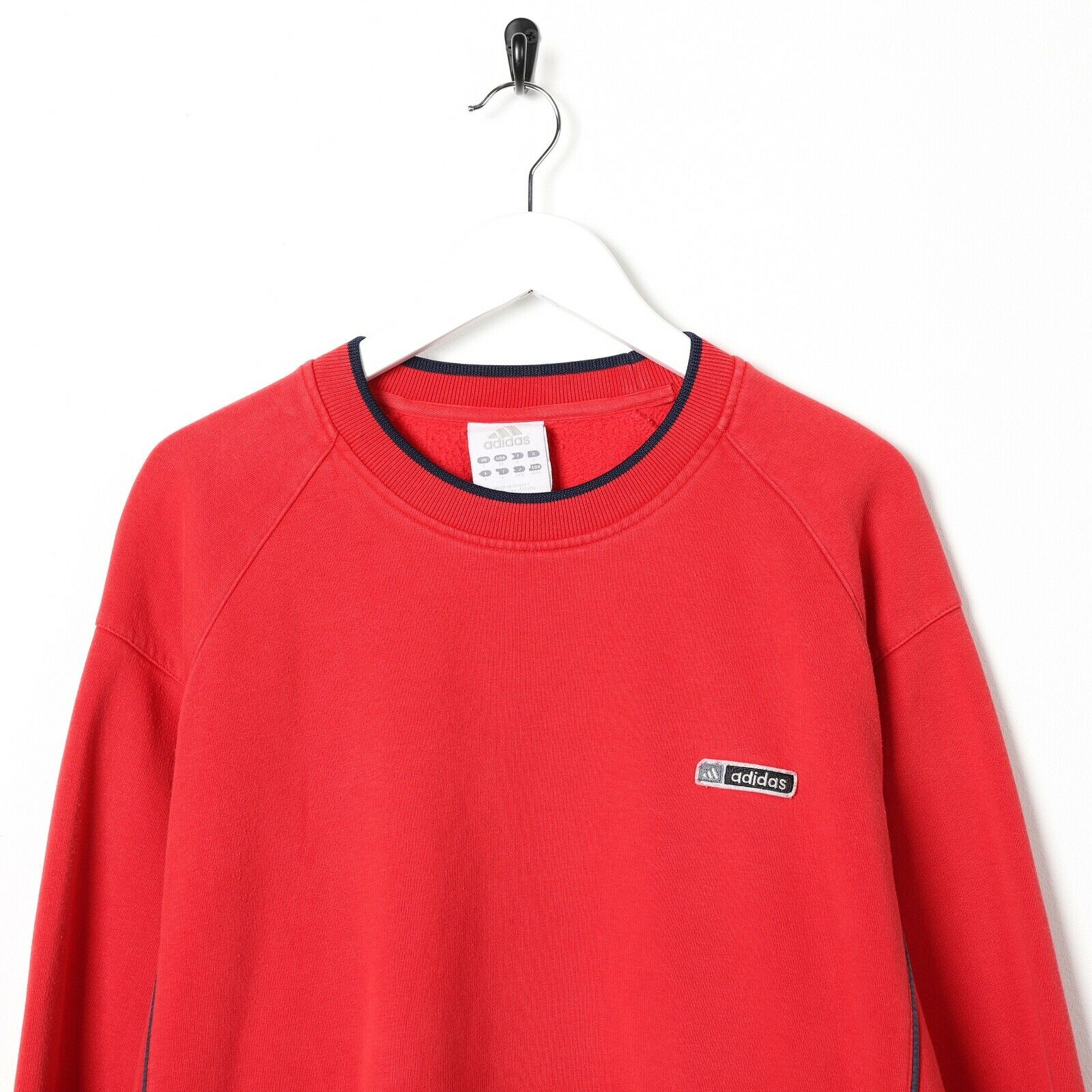 Vintage ADIDAS Small Logo Sweatshirt Jumper Red Large L