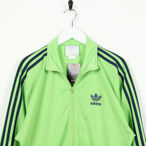 Vintage 80s ADIDAS Small Logo Tracksuit Top Jacket Neon Green | Small S