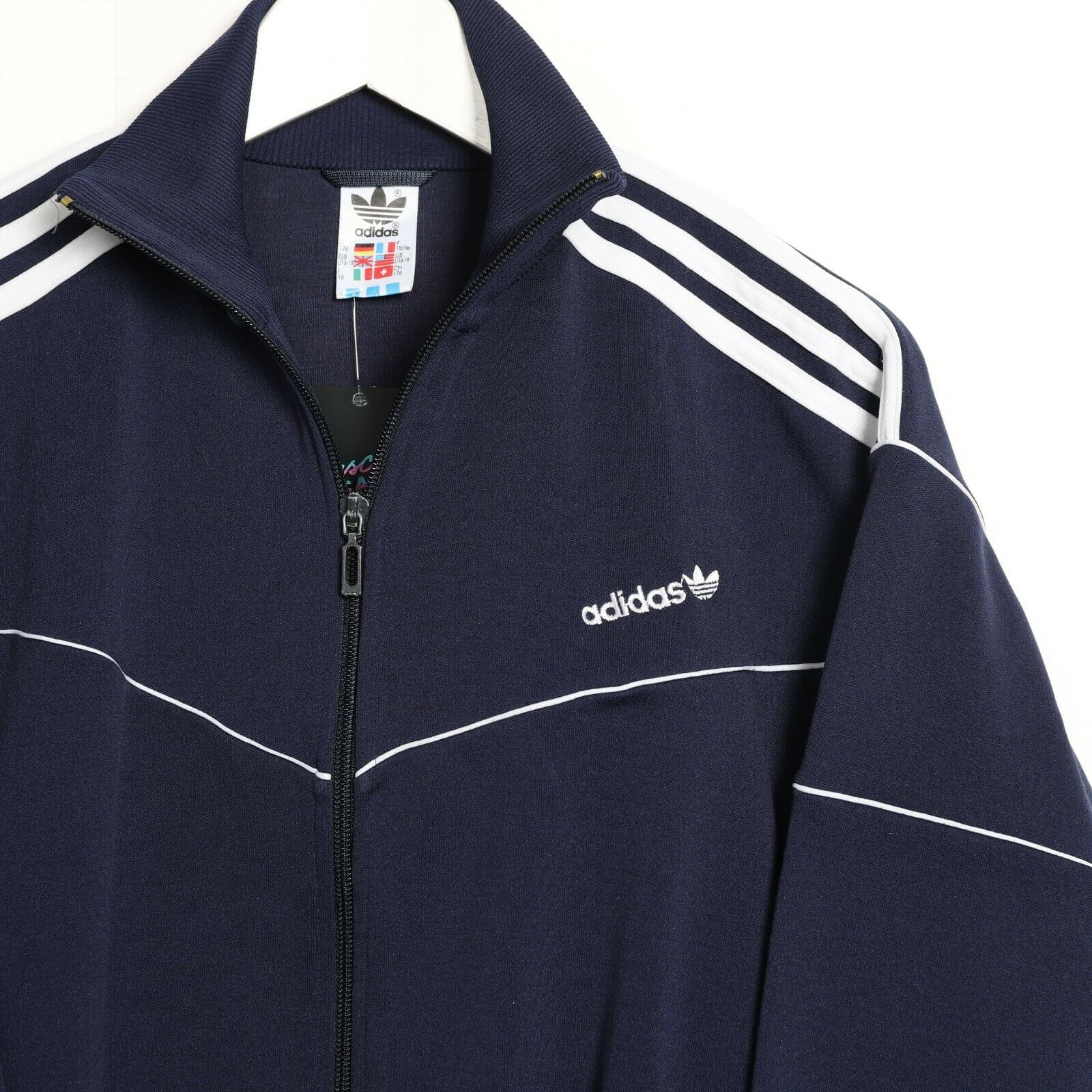 Vintage Women's 80s ADIDAS Small Logo Track Top Jacket Blue | Small S