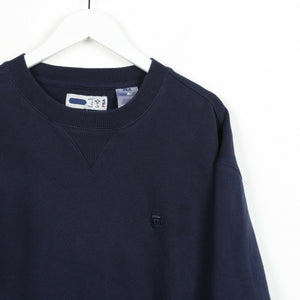 Vintage FILA Small Logo Sweatshirt Jumper Blue Large L