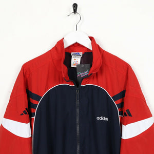 Vintage 90s ADIDAS Small Sleeve Logo Soft Shell Windbreaker Jacket Large L