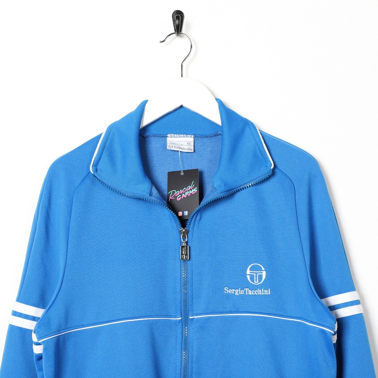 Vintage SERGIO TACCHINI Small Logo Track Top Jacket Blue small S