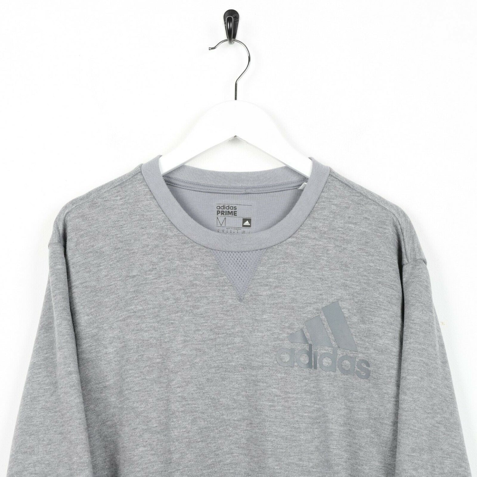 Vintage ADIDAS Small Logo Sweatshirt Jumper Grey | Medium M