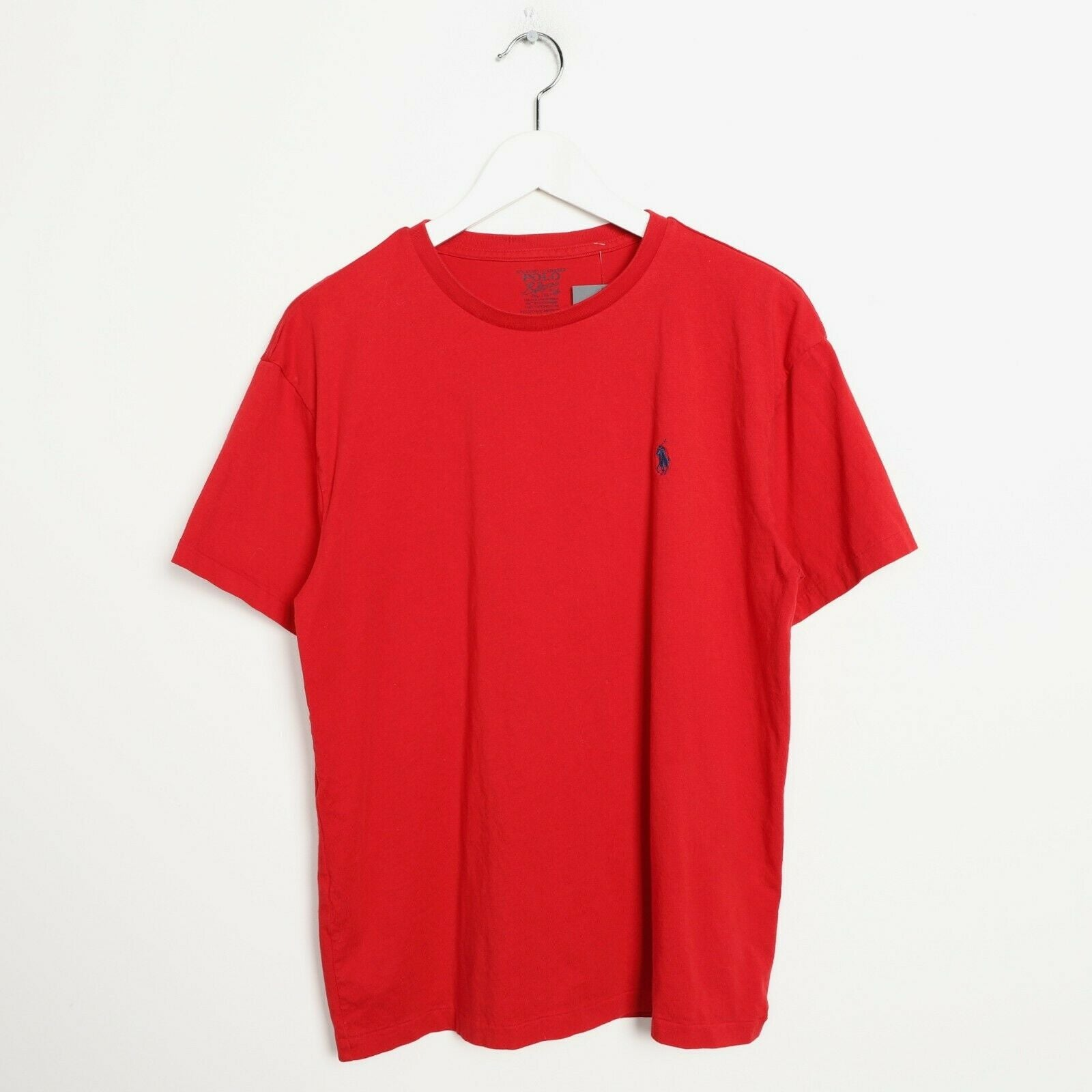 Vintage Ralph Lauren Small Logo T Shirt Tee Red | Medium M