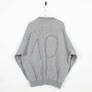Vintage CHAMPION Spell Out Sweatshirt Jumper Grey 2XL