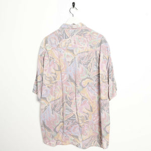 Vintage 90s ABSTRACT Short Sleeve Festival Party Shirt | XL