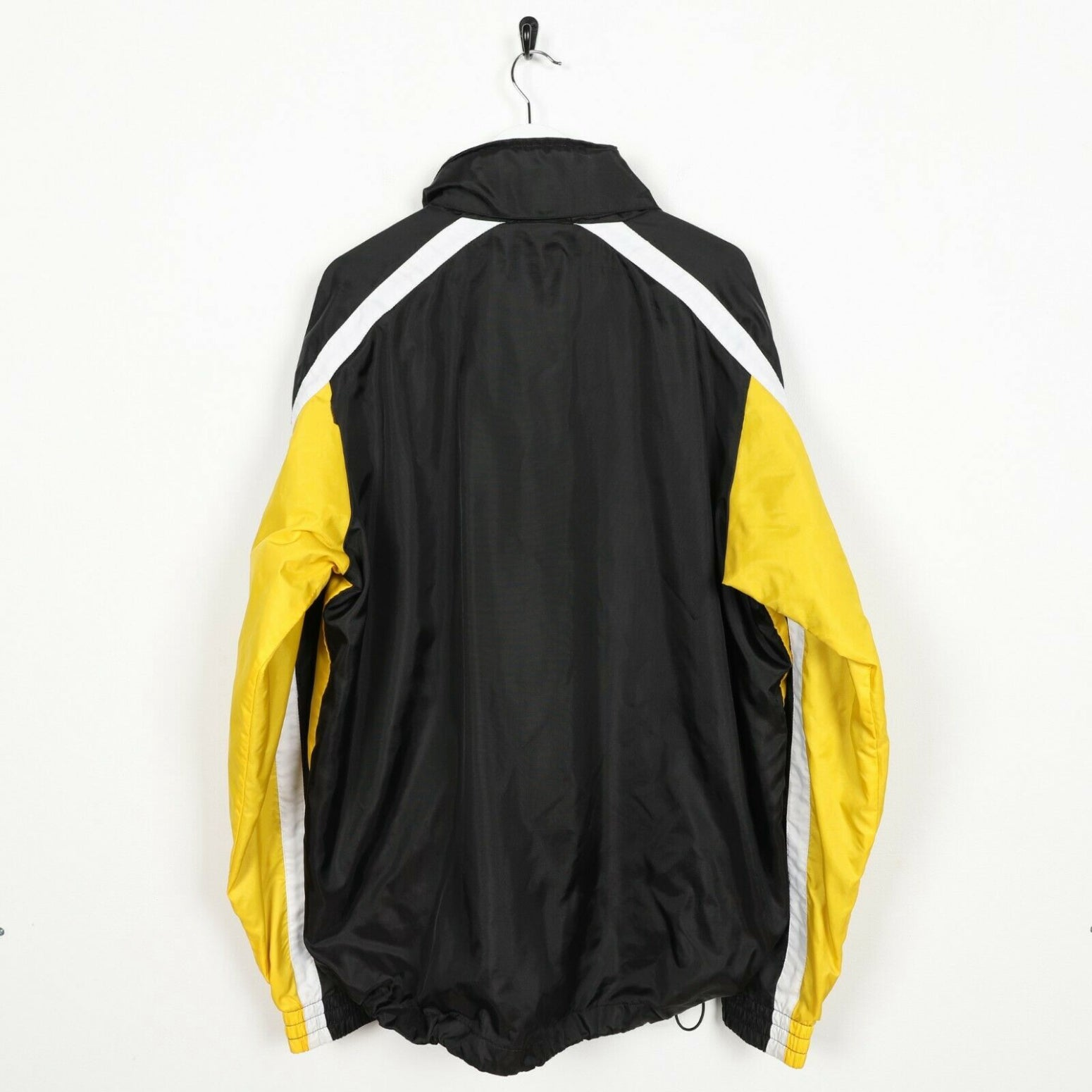 Vintage 90s LOTTO Lightweight Coat Jacket Black Yellow XL