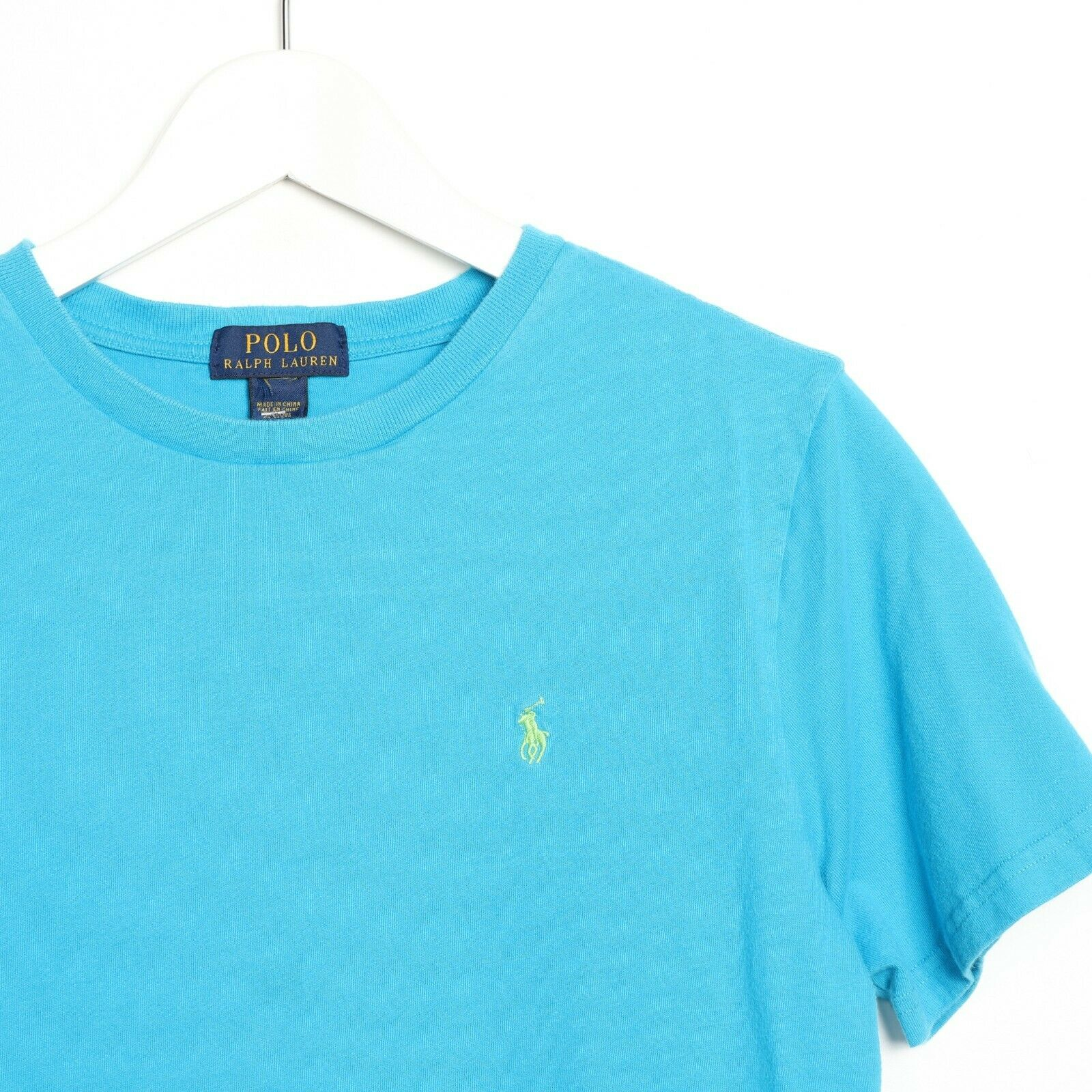 Vintage Womens RALPH LAUREN Small Logo T Shirt Tee Blue | Medium M