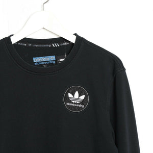 Vintage ADIDAS Skateboarding Small Logo Sweatshirt Jumper Black small S