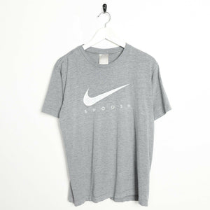 Vintage NIKE Big Swoosh Logo T Shirt Tee Grey | Medium M