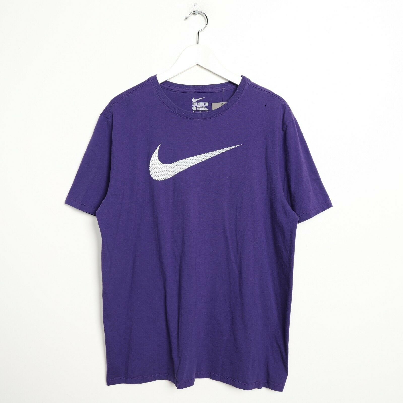 Vintage NIKE Big Swoosh Logo T Shirt Tee Purple XL