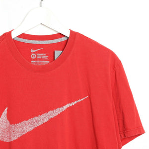 Vintage NIKE Big Swoosh Graphic Logo T Shirt Tee Red XL