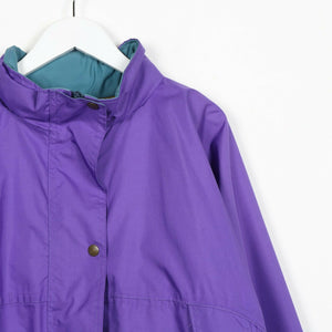 Vintage Windbreaker Anorak Jacket Purple Medium M