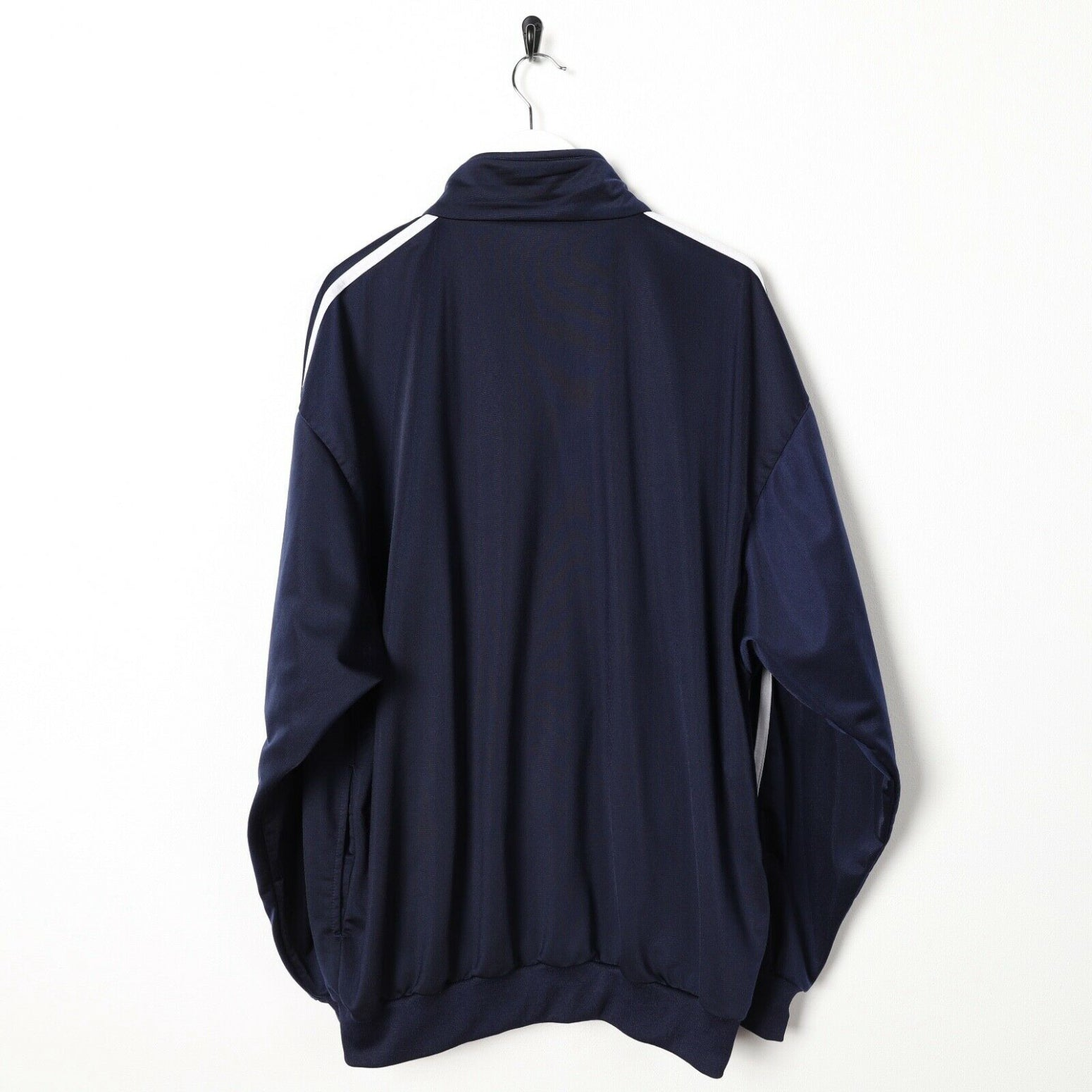 Vintage 80s ADIDAS Small Logo Track Top Jacket Navy Blue XL