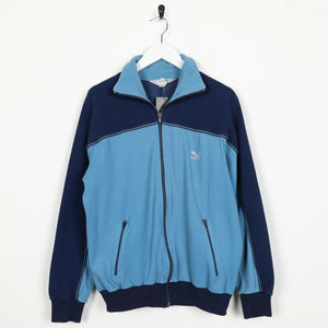 Vintage PUMA Small Logo Tracksuit Top Jacket Blue | Small S