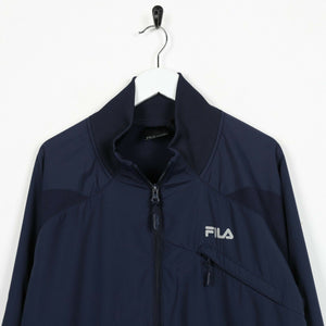 Vintage FILA Small Logo Zip Up Track Top Jacket Blue | Large L