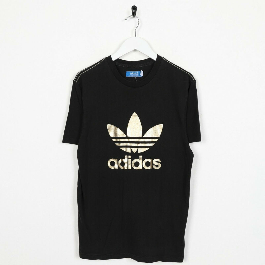 Vintage ADIDAS ORIGINALS Graphic Big Logo T Shirt Tee Black | Small S