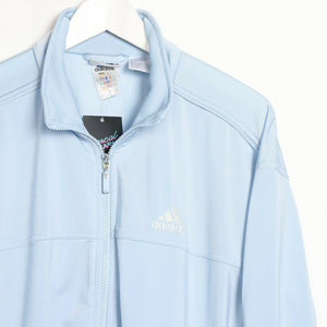 Vintage 90's ADIDAS Small Logo Zip Up Track Top Jacket Blue Medium M