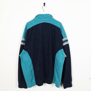 Vintage LOTTO Small Logo Track Top Jacket Navy Blue Teal | XL