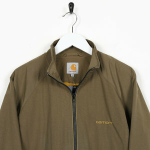 Vintage CARHARTT Small Spell Out Windbreaker Jacket Green | Small S