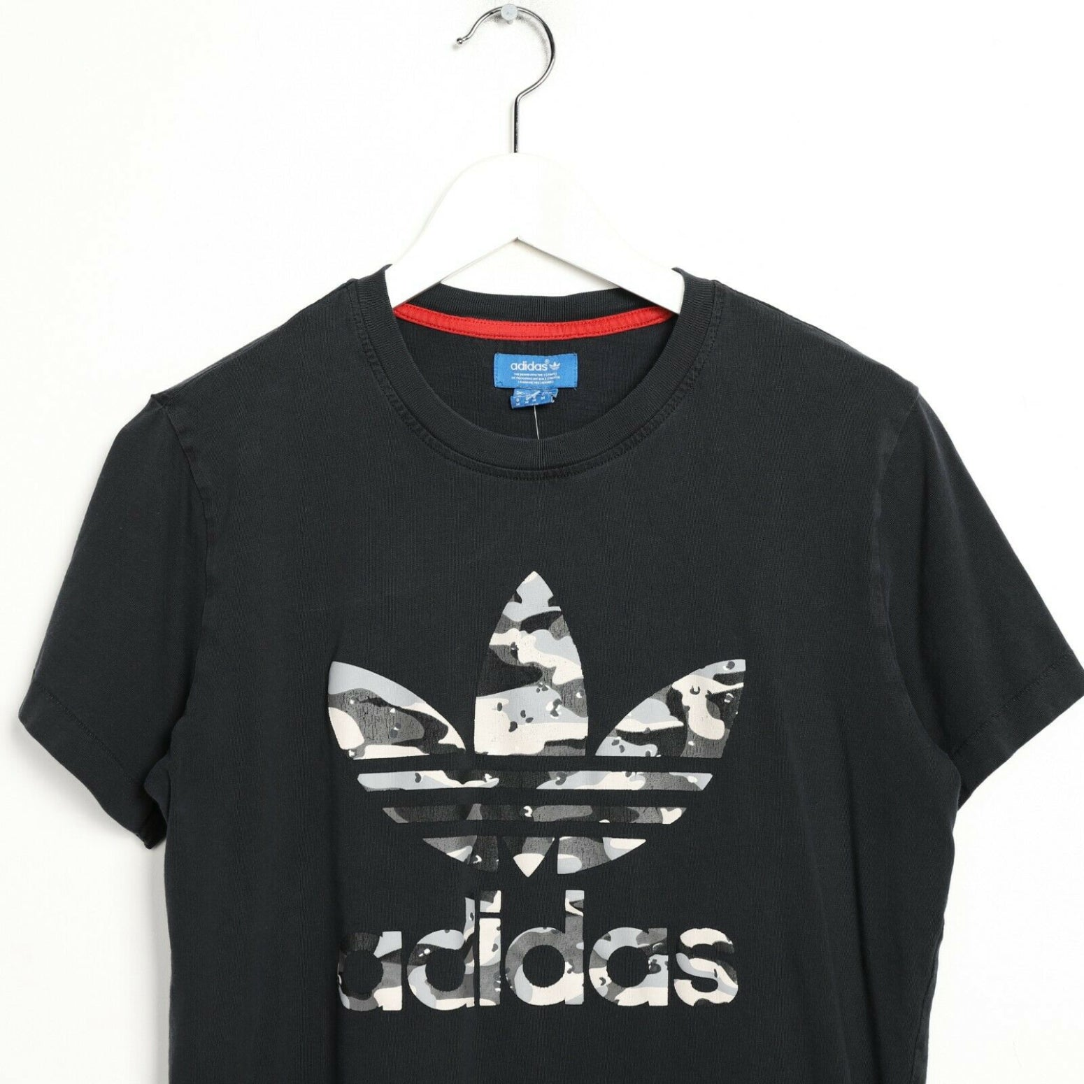 Vintage ADIDAS ORIGINALS Big Logo T Shirt Tee Black | Medium M