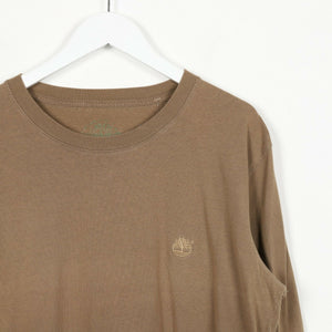 Vintage TIMBERLAND Back Logo Long Sleeve T Shirt Tee Brown Large L
