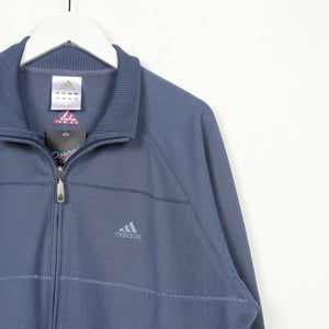 Vintage ADIDAS Small Logo Zip Up Track Top Jacket Blue | Large L