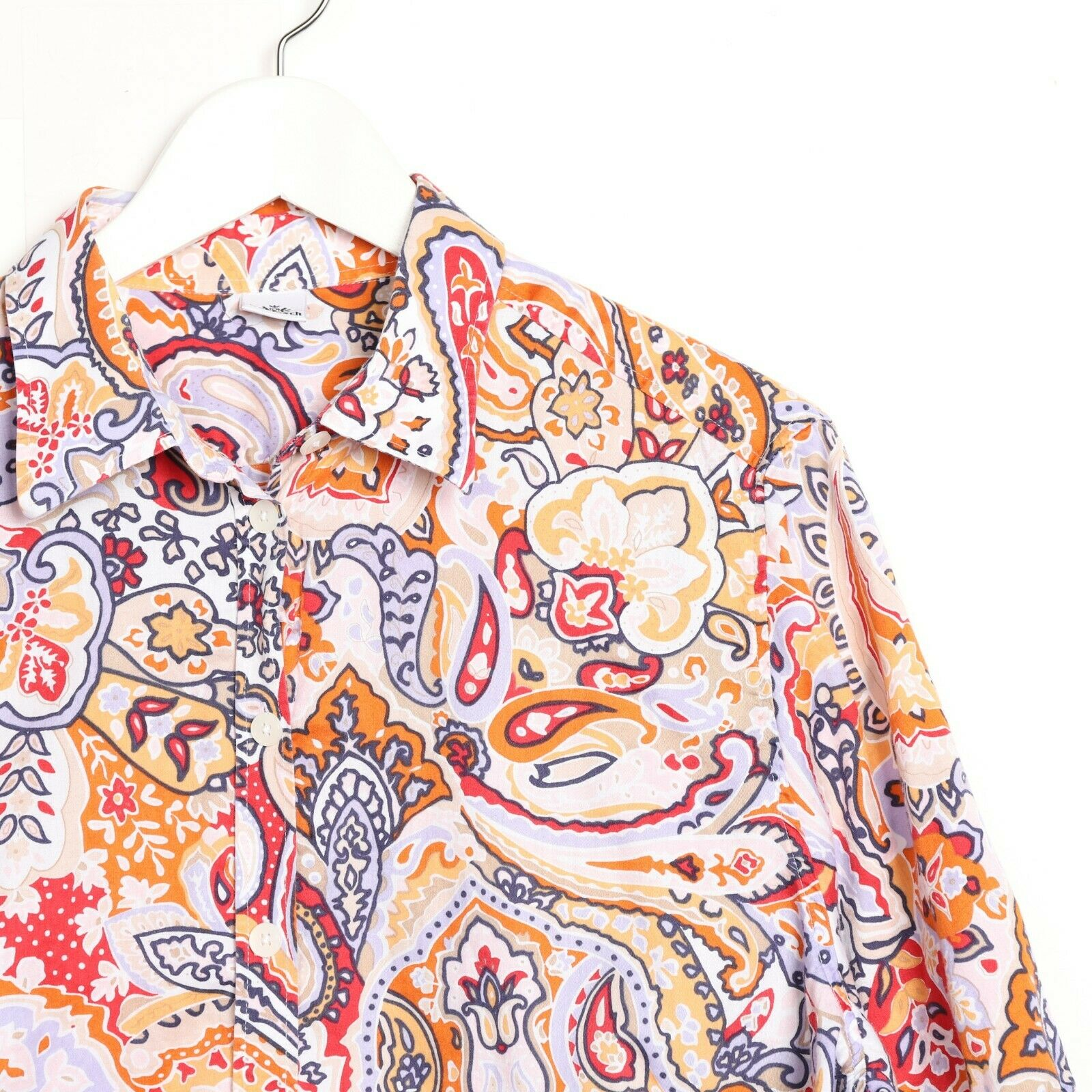 Vintage Women's 90s ABSTRACT Short Sleeve Festival Party Shirt | XL
