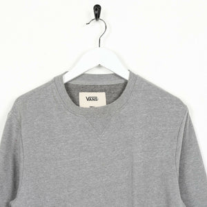 Vintage VANS Small Logo Sweatshirt Jumper Grey small S