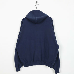 Vintage CHAMPION Zip Up Hoodie Sweatshirt Navy Blue | XL