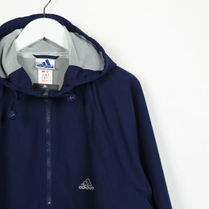 Vintage 90s ADIDAS Soft Shell 1/4 Zip Windbreaker Jacket Blue Medium M