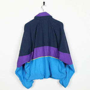 Vintage 80s HI-TEC Soft Shell Abstract Windbreaker Jacket Blue Large L