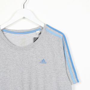 Vintage ADIDAS Small Logo T Shirt Tee Grey Large L