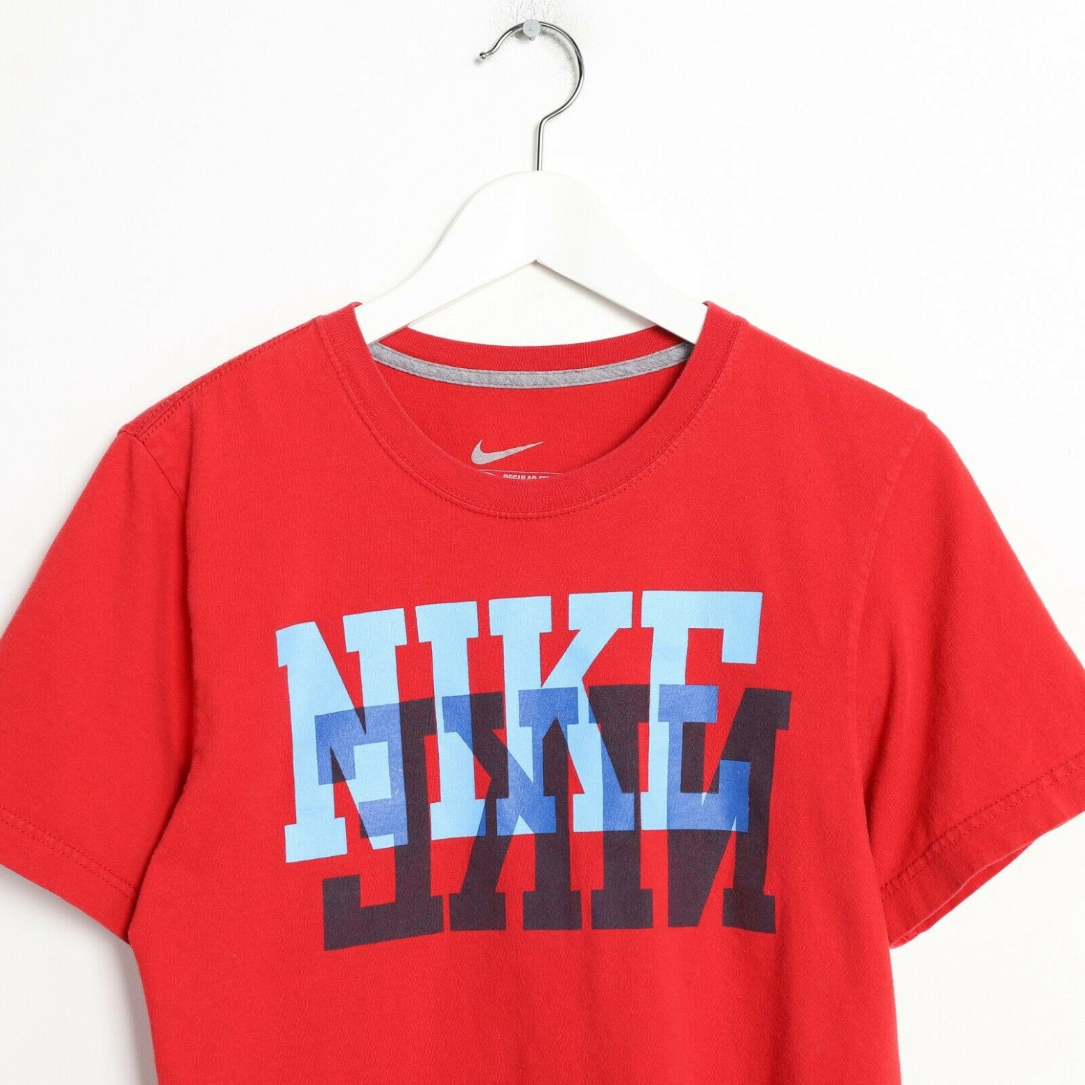 Vintage NIKE Big Logo T Shirt Tee Red Small S