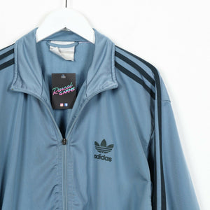 Vintage 80s ADIDAS Small Logo Track Top Jacket Blue | Medium M