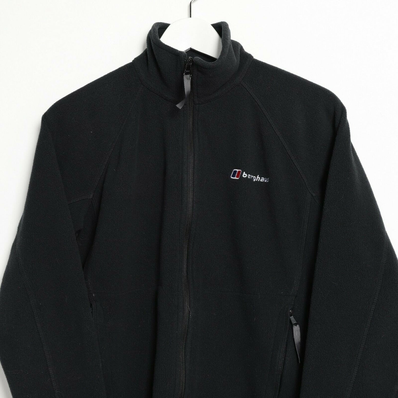 Vintage BERGHAUS Small Logo Zip Up Fleece Top Black | Small S