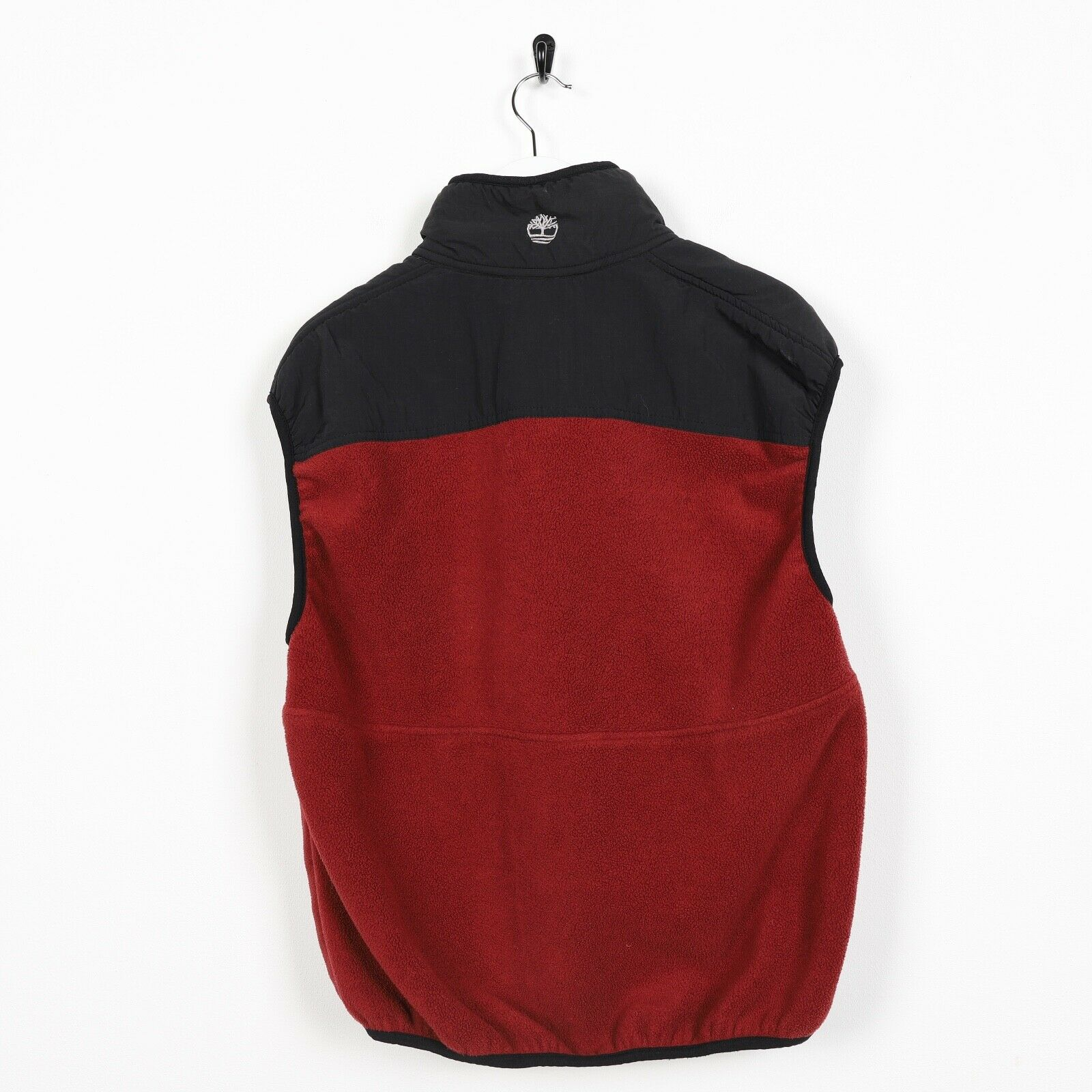 Vintage TIMBERLAND Small Logo Sleeveless Fleece Top Red Black small S