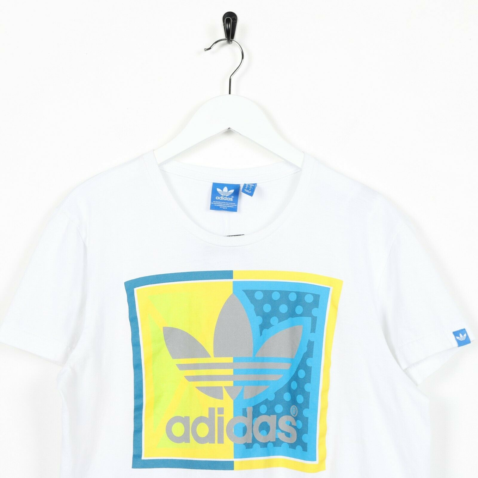 Vintage ADIDAS ORIGINALS Big Logo T Shirt Tee White | Small S