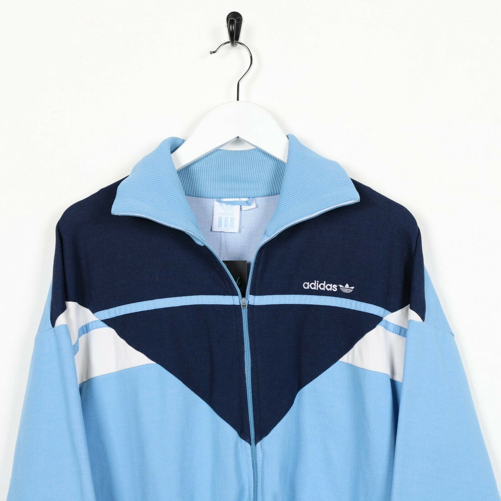 Vintage 80s ADIDAS Small Logo Track Top Jacket Blue | Small S