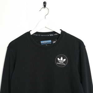 Vintage ADIDAS Skateboarding Small Logo Sweatshirt Jumper Black | Small S