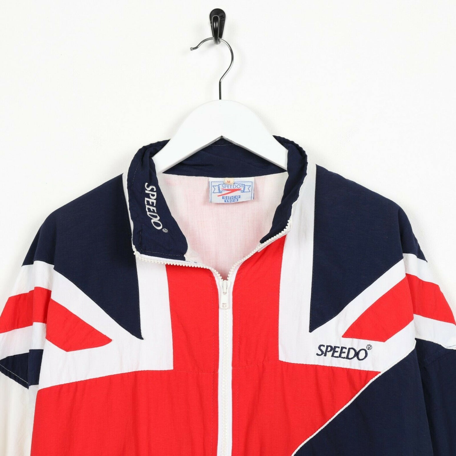 Vintage SPEEDO Abstract United Kingdom Flag Windbreaker Jacket | Medium M