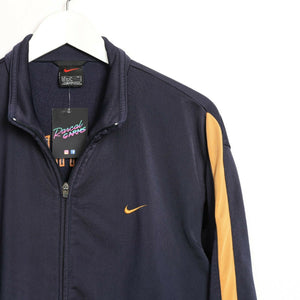 Vintage 90s NIKE Athletic Back Logo Tracksuit Top Jacket Blue Orange Medium M