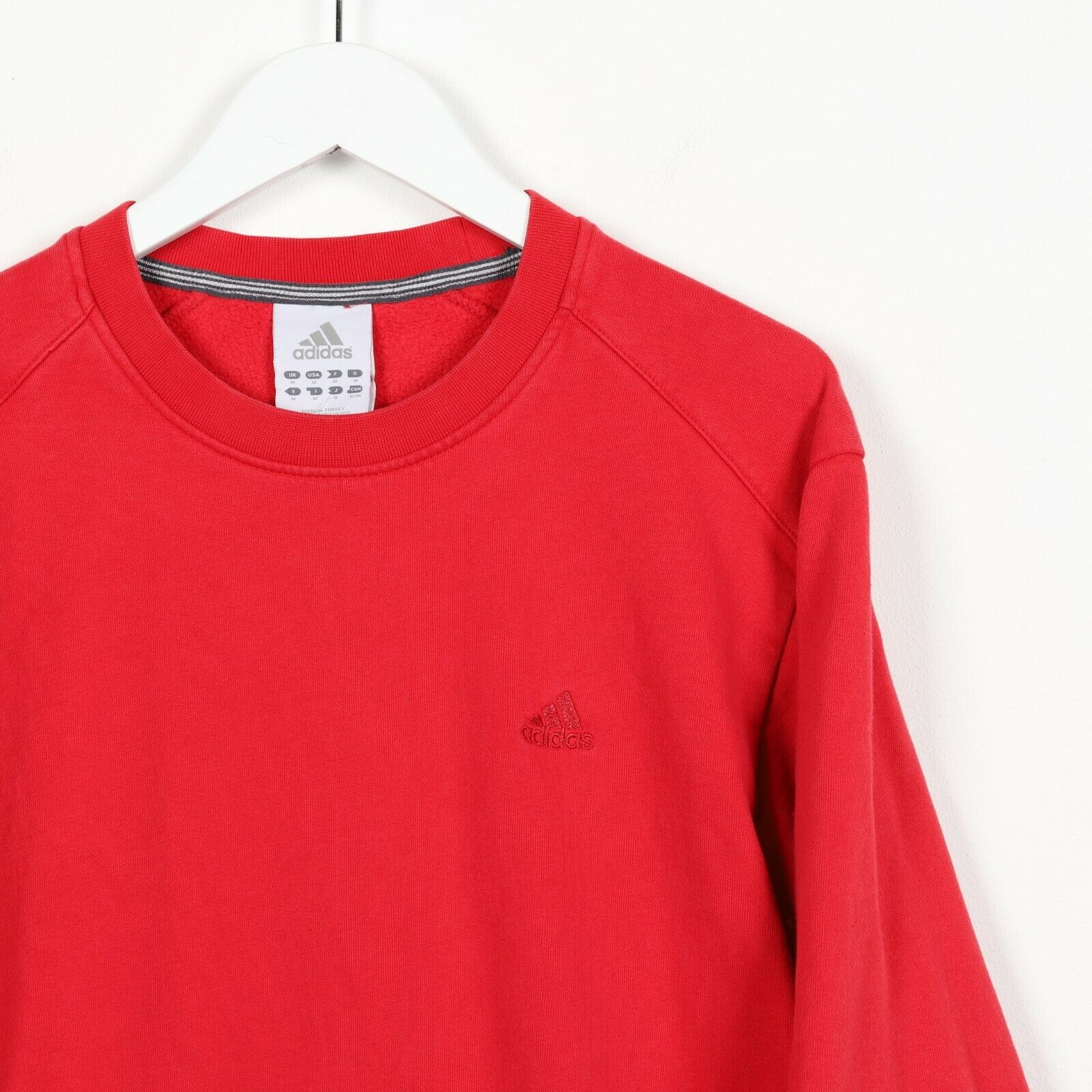 Vintage ADIDAS Small Logo Sweatshirt Jumper Red Medium M