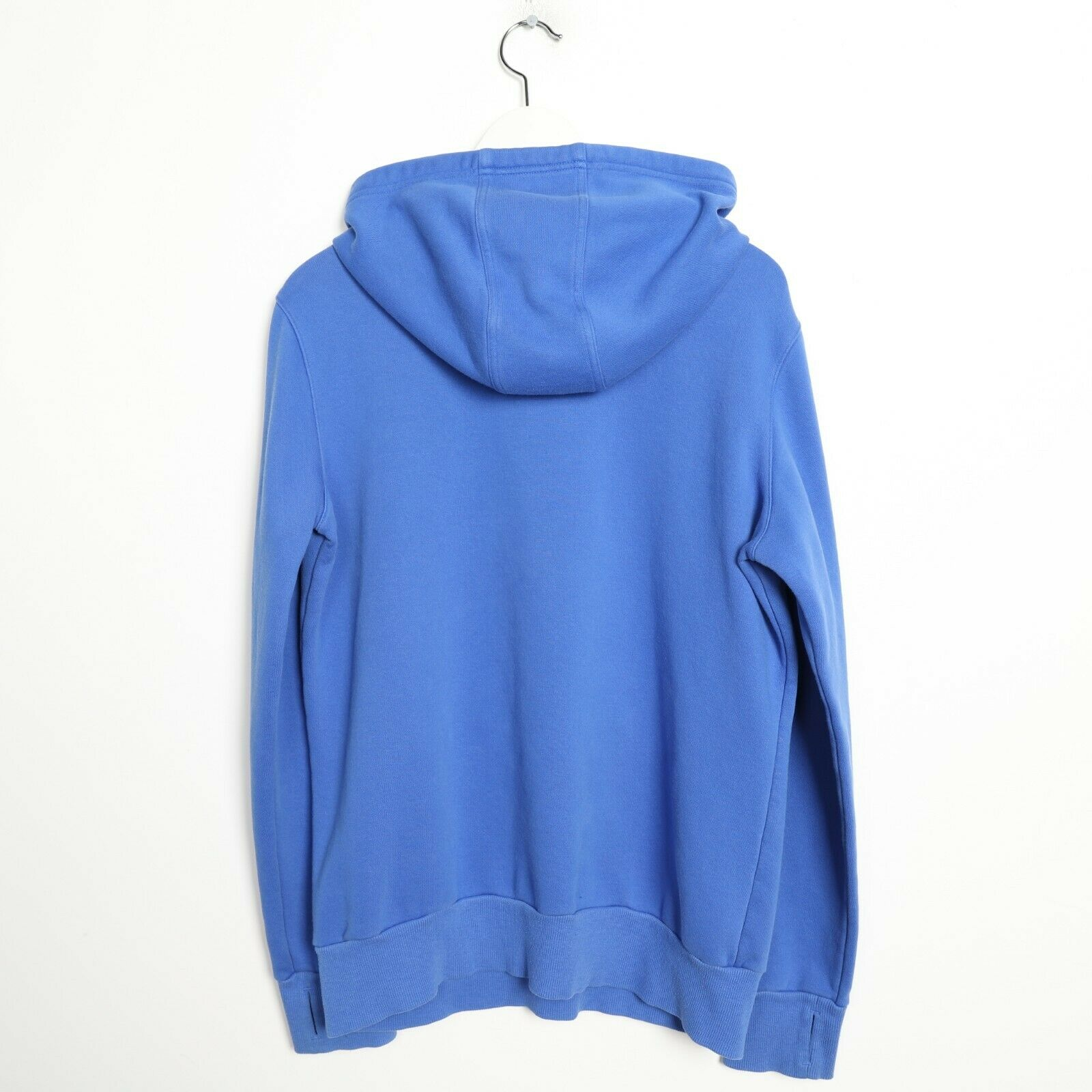 Vintage Women's ADIDAS Big Logo Hoodie Sweatshirt Blue | Large L
