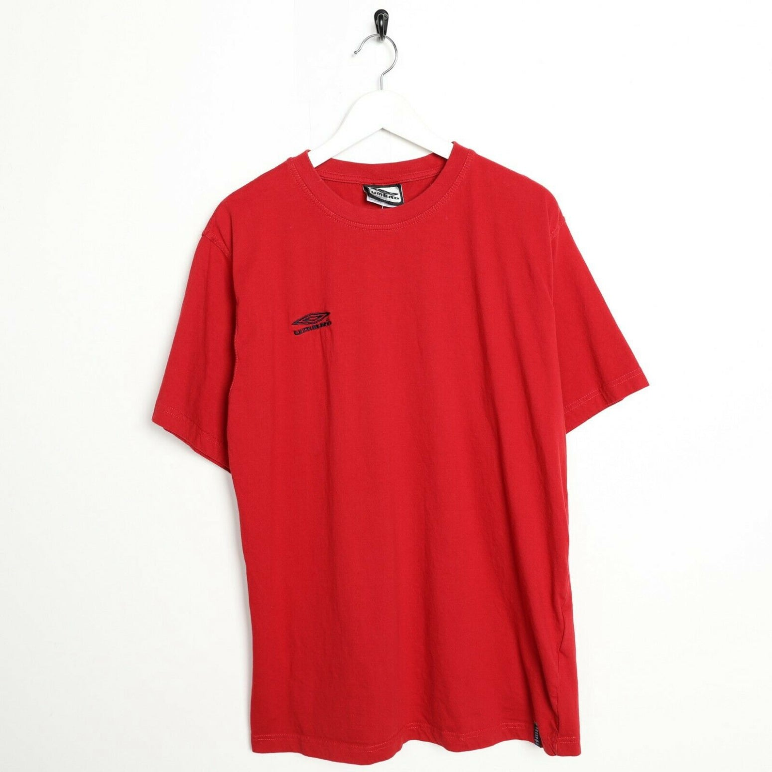 Vintage 90s UMBRO Small Logo T Shirt Tee Red XL