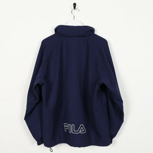 Vintage FILA Small Logo Windbreaker Jacket Blue Large L